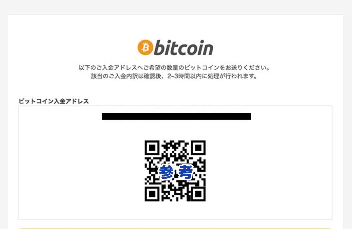QRコードとビットコインアドレス