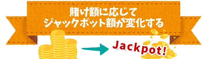 賭け額に応じてジャックポット額が変化するスロット
