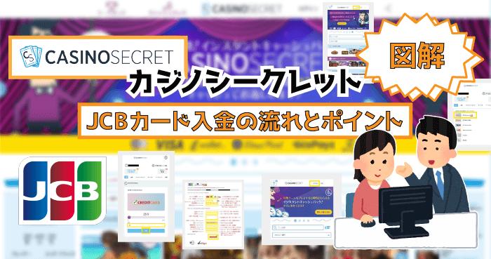 カジノシークレットのJCBカード入金!【図解】JCB入金の流れとポイント