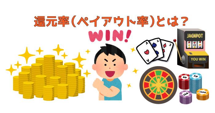 ギャンブル業界における還元率(ペイアウト率)とは?