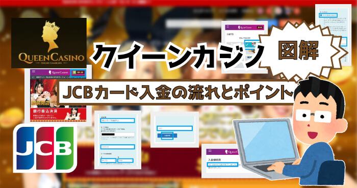 クイーンカジノのJCBカード入金!【図解】JCB入金の流れとポイント