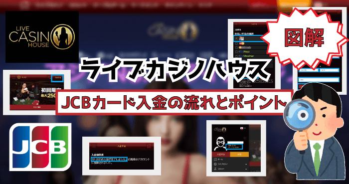 ライブカジノハウスのJCBカード入金!【図解】JCB入金の流れとポイント
