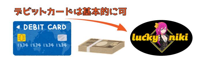 ラッキーニッキーカジノのJCBデビットカード入金