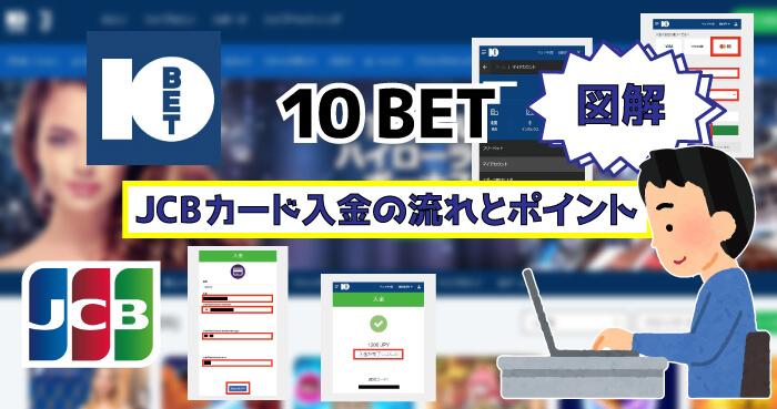 10BETのJCBカード入金!【図解】JCB入金の流れとポイント