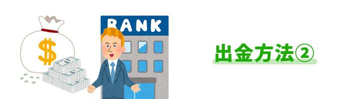 出金方法②:国際銀行送金