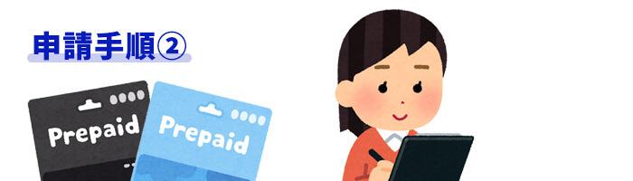 プリペイドカード申請手順②必要事項を記入し送信