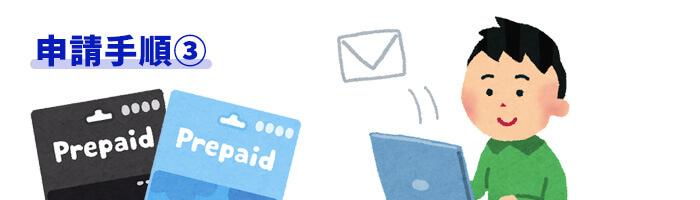 プリペイドカード申請手順③サポートからのメールに返信し、最終手続き