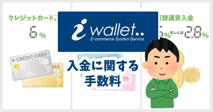 iWallet(アイウォレット)の入金に関する手数料